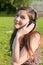 Stock Image : Girl listening to music