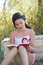 Stock Image : Girl reading