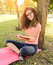 Stock Image : Girl reading the park