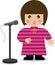 Stock Image : Girl Singing