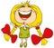Stock Image : Girl smiled