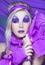 Stock Image : Girl in violet
