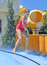 Stock Image : Girl in the water park