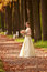 Stock Image : Girl in a wedding dress
