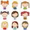 Stock Image : Girls avatar