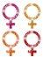 Stock Image : Glittering FEMALE Symbols