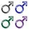 Stock Image : Glittering MALE Symbols