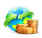 Stock Image : Global money transfer concept