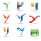 Stock Image : Glossy Icons for letter Y