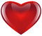Stock Image : Glossy red heart
