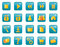 Stock Image : Glossy web icons