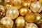 Stock Image : Gold Christmass balls