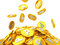 Stock Image : Gold coins point