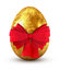 Stock Image : Gold egg with red bow.