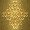 Stock Image : Gold metallic 3d ornament