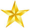 Stock Image : Gold star