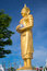 Stock Image : Golden buddha on blue sky