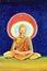 Stock Image : Golden Buddha illustration