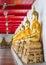 Stock Image : Golden buddhas in wat Mahatat Thaprajun