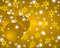 Stock Image : Golden Christmas background with Christmas balls