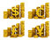 Stock Image : Golden coins set of currencies