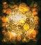Stock Image : Golden disco ball