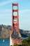 Stock Image : Golden Gate Bridge Vertical with Traffic