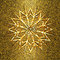 Stock Image : Golden snowflake on the aged gold