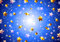 Stock Image : Golden stars on a blue background
