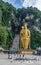 Stock Image : Golden statue of Murugan at the Batu Caves near Kuala Lumpur