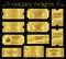 Stock Image : Golden Vector Ticket Templates