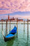 Stock Image : Gondola on Grand Canal in Venice, Italy.