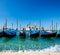 Stock Image : Gondolas in Venice on Grand canal