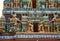 Stock Image : Gopuram with statues of hindu gods in Negombo
