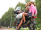 Stock Image : Girls on a motorcycle