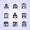 Stock Image : Government building icons