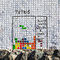Stock Image : Graffiti tetris game