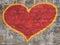 Stock Image : Grafitti heart on the wall
