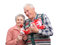 Stock Image : Grandfather and grandmother with gifts