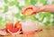 Stock Image : Grapefruit juice