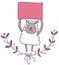Stock Image : Grappige schapen met lege signaalillustratie