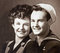 Stock Image : Greatest Generation - World War II U.S. Navy Sailor and Fiancee