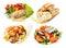 Stock Image : Greek and mediterranean fast street food