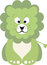 Stock Image : Green baby lion