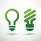 Stock Image : Green bulb icons set