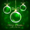 Stock Image : Green Christmas background
