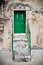 Stock Image : Green church door