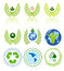 Stock Image : Green energy icon set