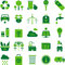 Stock Image : Green environment and recycle icons