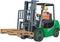 Stock Image : Green Forklift Truck
